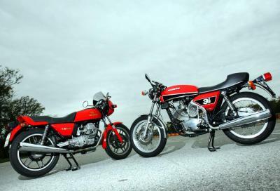 Epoca: Anni Settanta – Moto Morini Morini 3 ½  standard e Sport. Moto Guzzi V35 e V35 Imola